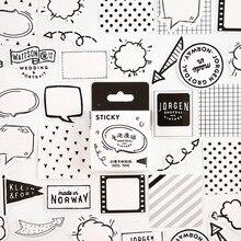 Черный белый Dialog Bullet Journal декоративные канцелярские мини-наклейки Набор Скрапбукинг DIY дневник альбом палка этикетка