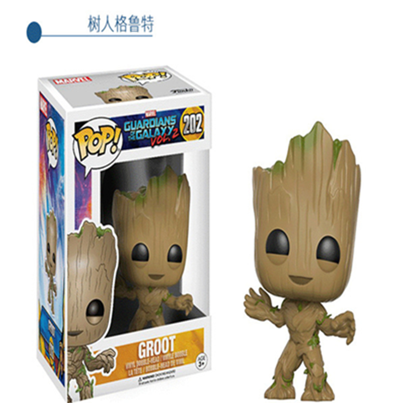 2017 Funko POP Movies: Guardians of The Galaxy 2 Toddler Star Lord Gamora Groot Rocket Raccoon PVC Model Toy Action Figure Gift new funko pop guardians of the galaxy tree people groot