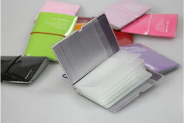 aliexpresscom buy pure color credit card case for business plastic card holder mini card book 32 pocket from reliable case card suppliers on bestgreeting - Plastic Card Holder