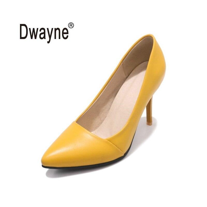 Большой Размеры Для женщин обувь 9 см на высоком каблуке AF1 Лето хорошее туфли-лодочки из искусственной кожи обувь для вечеринок для женская ...