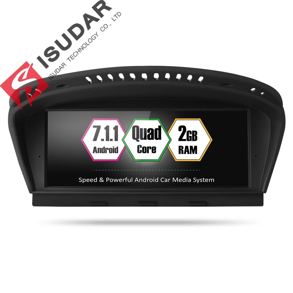 Lecteur multimédia de voiture Isudar 2 din android 7.1.1 lecteur DVD 8.8 pouces pour BMW série 3 série 5 E60 CCC/CIC 32 GB Rom GPS 4 cœurs