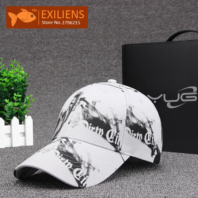 [EXILIENS] 2017 Fashion Brand Baseball Cap 100% Cotton Black White Snapback Caps Strapback Hip-hop Hats For Men Women Fitted Hat hat 2016 men women strapback snapback baseball cap adjustable hat black white pink color one size