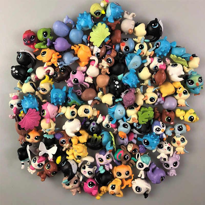 5/10/20/50 Uds. Envían al azar diferentes juguetes LPS PVC Mini gato cachorro acción soporte figura juguete muñecos de cosplay modelo regalos de navidad