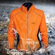 WOSAWE קיץ Waterproof Waterproof אופניים רכיבה מעילים ספורט Mens לנשוך רפלקטיבית ג'רזי ביגוד אופניים שרוול ארוך מעיל