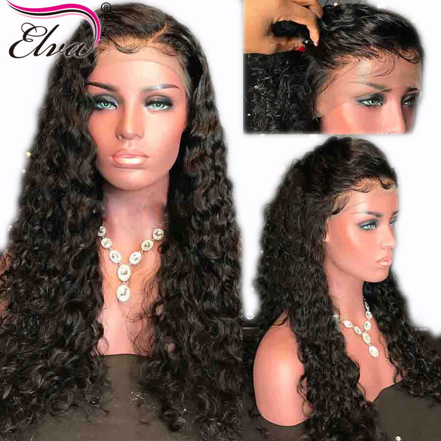 Elva Hair 13x6 Lace Front Human Hair Wigs For Black Women 150 Density Brazilian Remy Curly Hair Wigs With Baby Hair Pre Plucked
