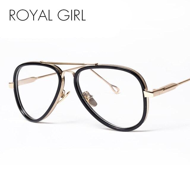 9e927315c6f1 ROYAL GIRL Women Designer Eyeglasses Frames Vintage Clear Lens Glasses Men  Spectacles Sunglasses With Bag ss902