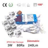 8ピース/セット3ワット240lm 80raミニledスポットライト照明用ハウス装飾電球照明ナイト電球50000時間サービス