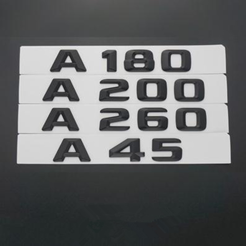 3D ABS Black Plastic A45 <font><b>A180</b></font> A260 A200 Trunk Rear Logo Badge Emblem Sticker for <font><b>Mercedes</b></font> Benz W176 AMG A Class A45 C63 E63 image