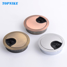 TOPNIKE 50mm 53mm 60mm Computer Desk Wire Hole Cover Zinc Alloy Round Line Table Cable Outlet Port Threading