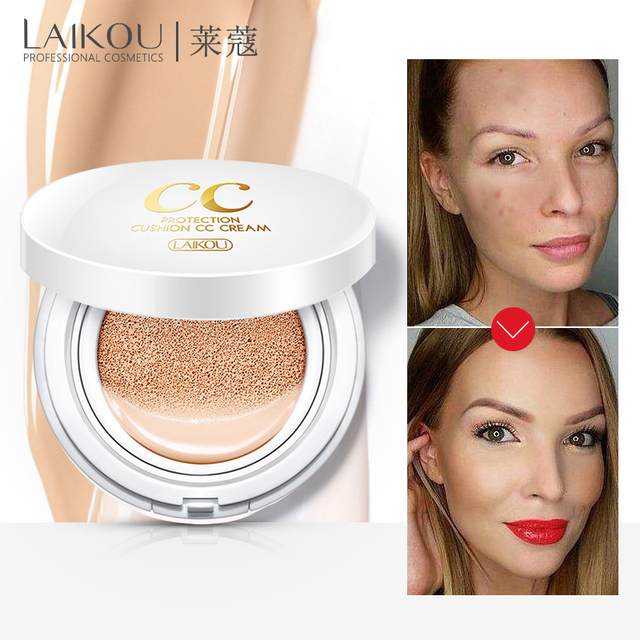 Protector solar aire cojín BB CC crema corrector hidratante base blanqueadora maquillaje desnudo para maquillaje facial belleza cosmético coreano
