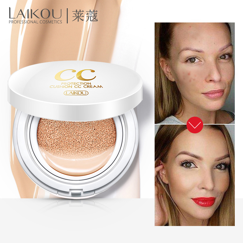 Sunscreen Air Cushion BB CC Cream Concealer Moisturizing Foundation Whitening Makeup Bare For Face Beauty Makeup Korean Cosmetic image