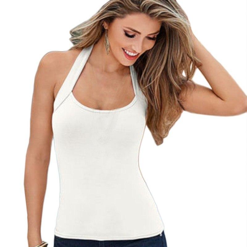 ETOSELL Women Sleeveless   Tops   Casual Women Backless Vest   Tops   Summer Halter Camis Sexy Women Clothing   Tank     Tops   T-shirt t shirt