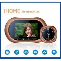 Беспроводной WI FI глазок Smart Двери Просмотра ИК движения dectect видео фото дверь Камера с CCTV Крытый Мониторы для дома безопасности
