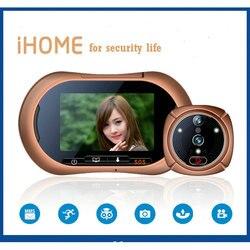 Wireless WIFI Peephole Smart Door Viewer IR Motion Dectect Video Photo Door Camera With CCTV Indoor Monitor For Home Security