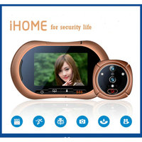 Wireless WIFI Peephole Smart Door Viewer IR Motion Dectect Video Photo Door Camera With CCTV Indoor Monitor For Home Security