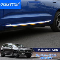 QCBXYYXH Car Styling Molding Door Body Strips For Volvo XC60 2018 2019 Accessories Trim Covers External