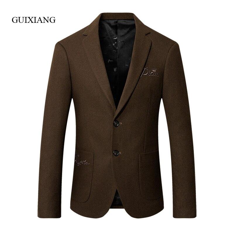 2019 new arrival winter style men boutique cotton blazers fashion casual single breasted solid slim men