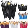 Kai yunly 15 PCS Cosmetic Makeup Brushes Set Ferramentas Make-up Kit de Higiene Pessoal Lã Make Up Brush Set Preto/azul/roxo/Vermelho/Branco De Agosto De 12