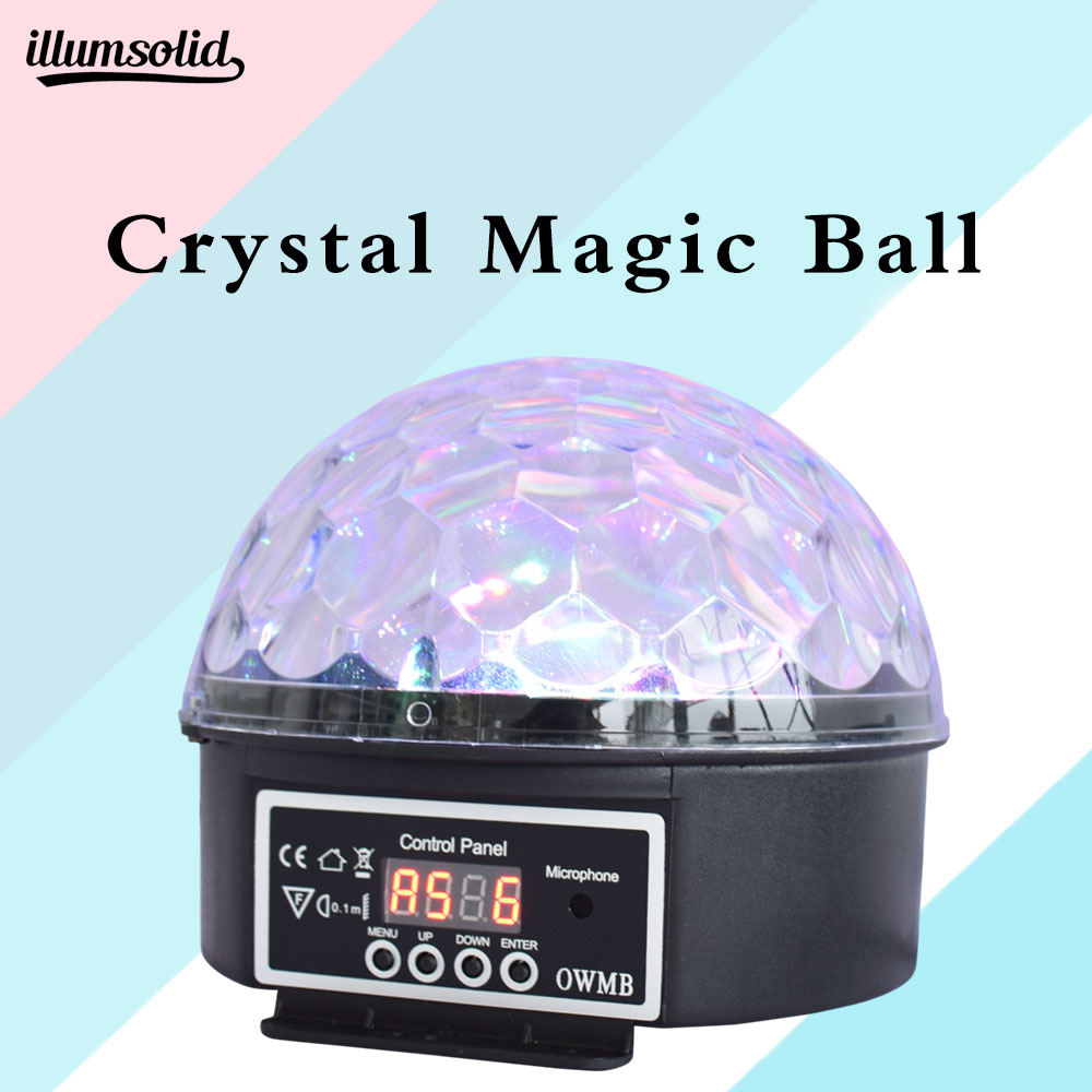 Crystal Magic Ball Led Stage Lamp Dmx Disco Lights Ktv Light Music Christmas Party
