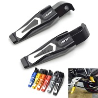 Free Shipping CNC Aluminum Motorcycle Rear Passenger Foot Pegs Pedals Footrests For YAMAHA MT 07 MT07