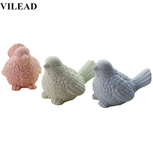VILEAD 4.7 Matte Ceramic Magpies Bird Figurines Magpie Ornament Statue Animal Birds Model Home Decor Creative Gift for Kids