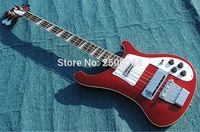 2016 New Styles Of High Quality Custom Red Beautiful Rosewood Fingerboard And Basswood Body 4 String