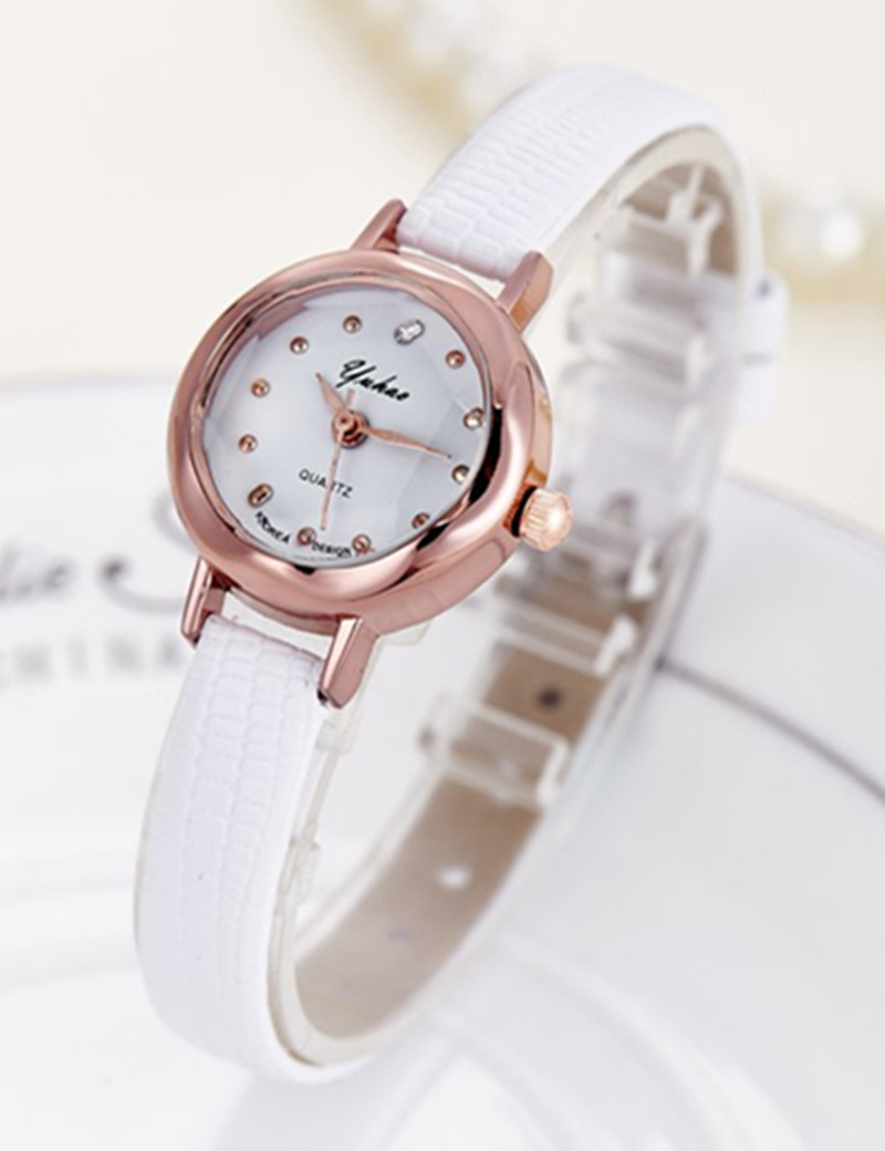 2019 Fashion Women Watches Luxury Brand Rose gold Leather Strap Quartz Watch For Women Casual Dress Watch Hours Female Clock in Women 39 s Watches from Watches