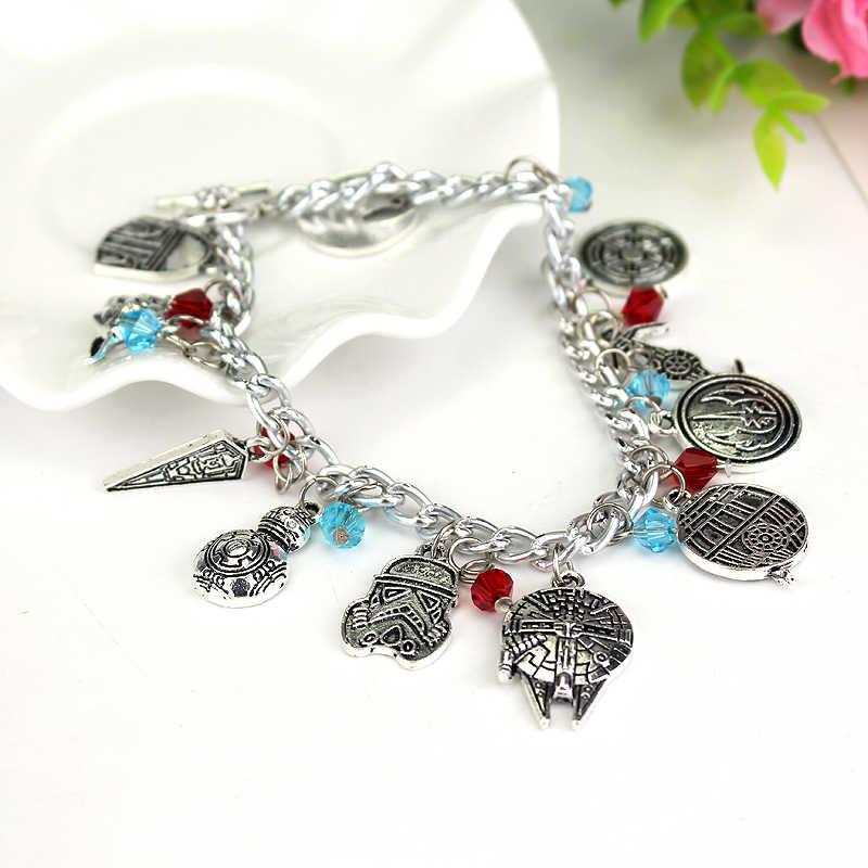 Dongsheng STAR WARS Charm Gelang Vintage Alloy Perhiasan untuk Koleksi Penggemar Retail-30 Link Rantai Gelang untuk Wanita Grosir