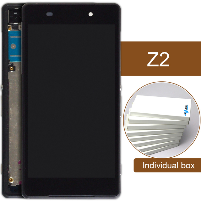 5pcs 5.2 inch highscreen clone For Sony Xperia Z2 D6503 D6502 LCD Display + Digitizer Touch Screen Assembly with frame