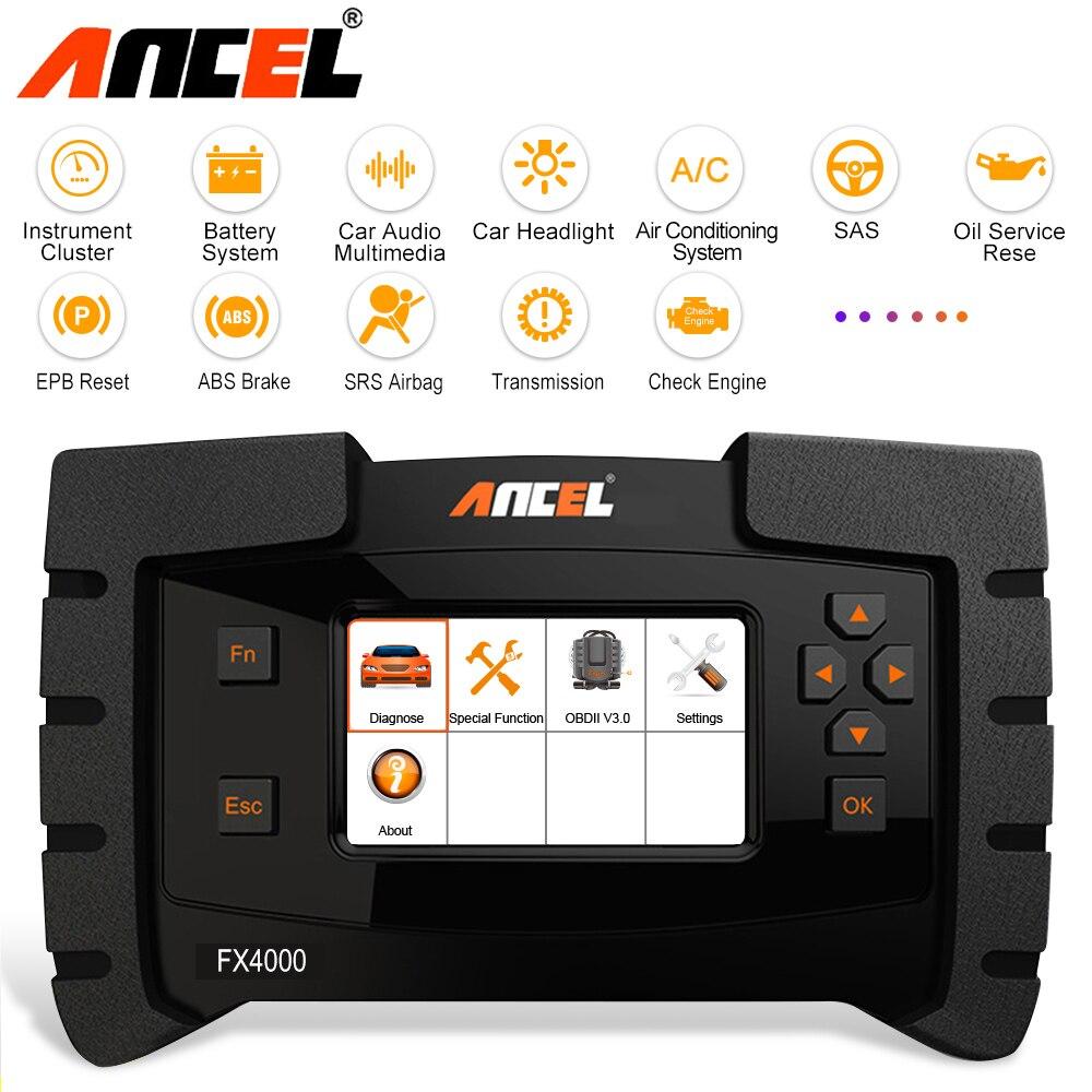 US $156 47 45% OFF|Ancel FX4000 OBD2 Scanner Car Diagnostic Tool Full  System Scan ABS SRS Oil Reset Code Readers ODB2 Diagnostic Scanner  Automotive on