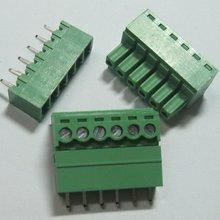 60 шт. 6pin/шаг пути 3,81 мм Винт Клеммная колодка Разъем зеленый цвет Т Тип с pin