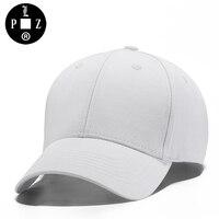 PLZ Brand White Hat Baseball Cap Women Men Fashion New Summer Sun Hats Cotton Blank Korean