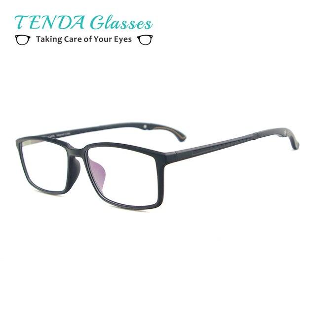 8ab5aea1f1 Gafas TR90 ligeras para hombre y mujer, montura de gafas de deporte  Rectangular con soporte