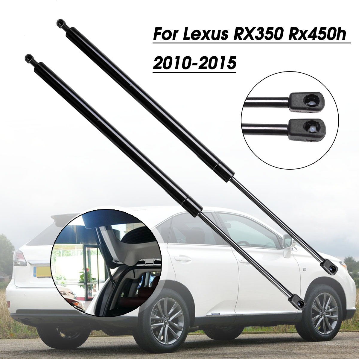 2X Rear Trunk Tailgate Tail Gate Boot Gas Spring Shock Lift Struts Support Rod Arm Bar For <font><b>Lexus</b></font> <font><b>RX350</b></font> RX450h 2010 2011 - 2015 image