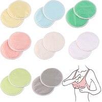 10Pcs Mom Bamboo Breast Nursing Pad Waterproof Washable Feeding Reusable 3 Layers Thick Pads M09
