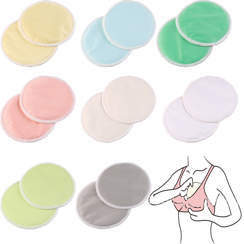 10Pcs Mom Reusable Bamboo Breast Nursing Pad Waterproof Washable Feeding 3 Layers Thick Pads M09
