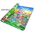 Frete grátis crianças bebê dos desenhos animados tapetes tapete engatinhando tenda multifuncional escalada pad 200*180*0.5 cm