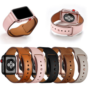 Image 5 - Ivory White Genuine Leather Watch Band Strap For Iwatch 38mm 44mm , VIOTOO Black Color Leather Watch Band Strap For Apple Watch