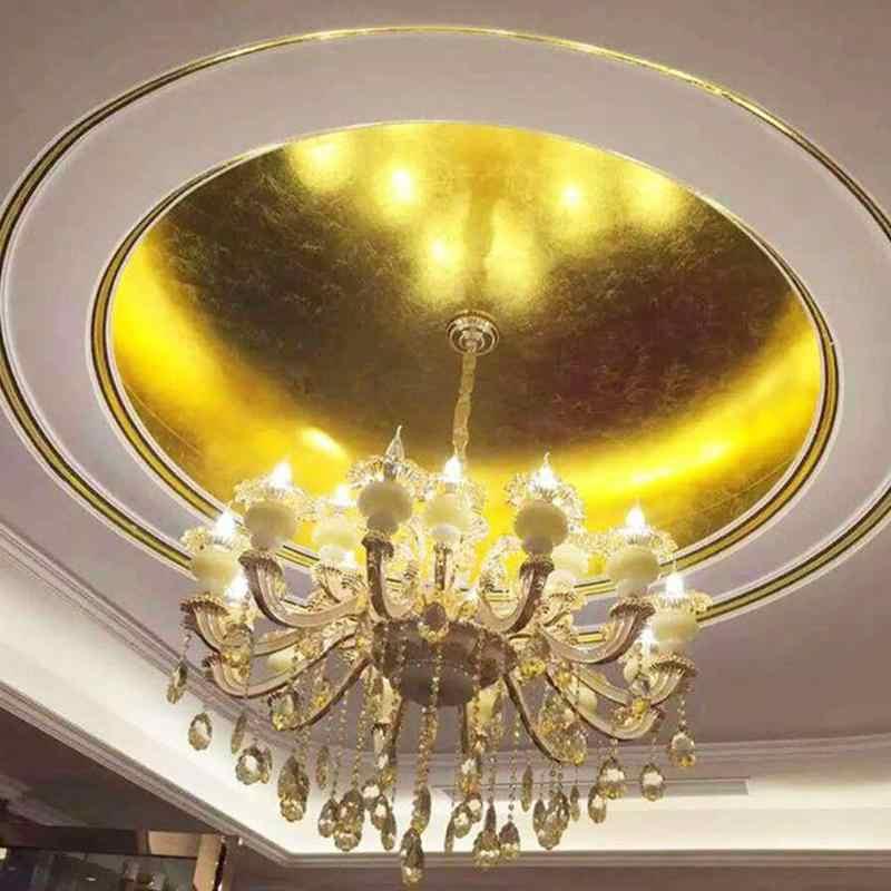 100pcs Gold/silber/kupfer Folie Blatt Papier Lebensmittel Kuchen Decor Essbare Vergoldung Diy