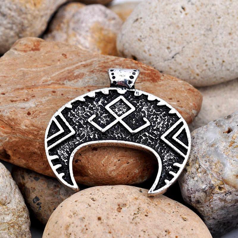Славянский Амулет Кулон Луна Лунница талисман Шарм Викинг скандинавские кулон античное серебро