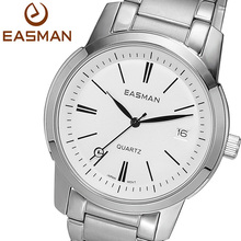 EASMAN Brand Wristwatches Men Watches Fashion Casual Calendar Watch New Stainless White Quartz Wristwatches For Mens