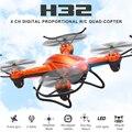 Mais novo JJRC H32WH MINI Drone com Câmera 2.4G 4CH Uma Chave retorno VS JJRC H32GH 5.8G FPV RC Quadcopter Helicóptero VS H8