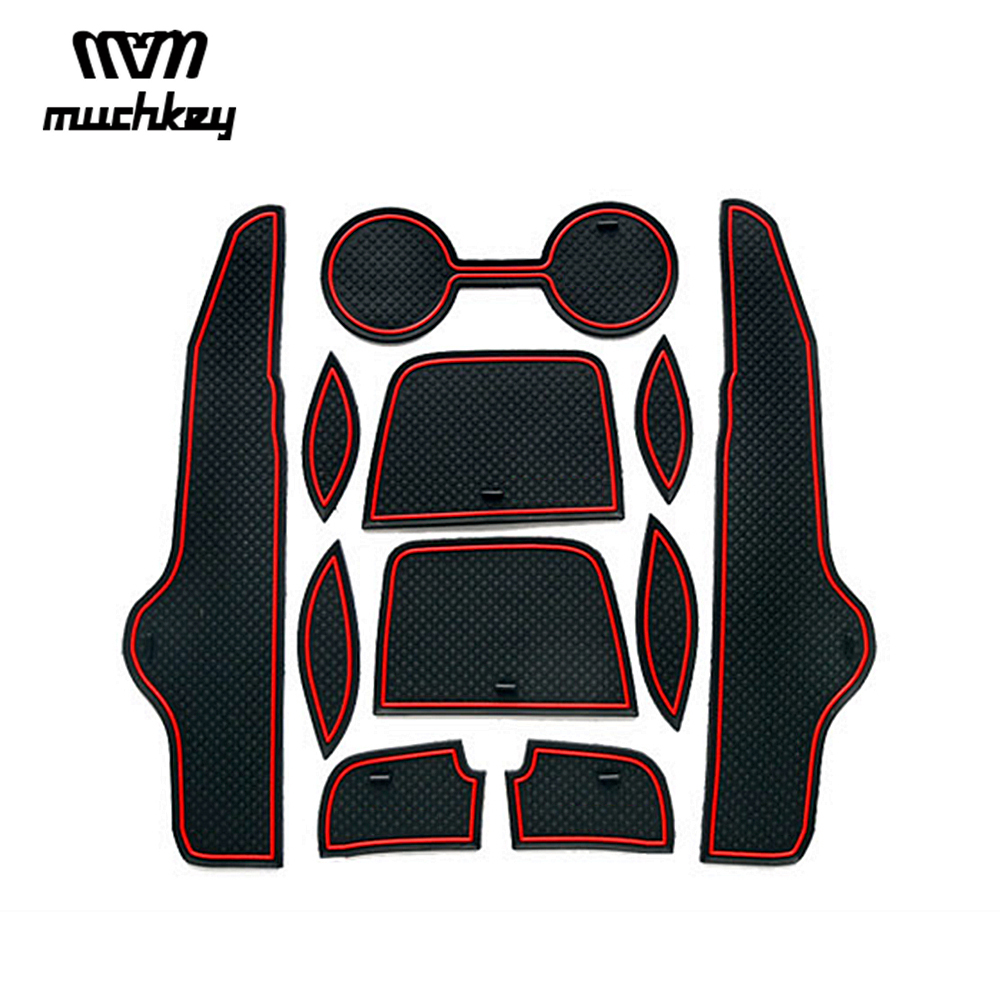 For Toyota Corolla 2007 2008 2009 2010 2011 2012 2013 Non-slip Rubber Cup Holder Sticker Gate Slot Pad Door Groove Mat Styling