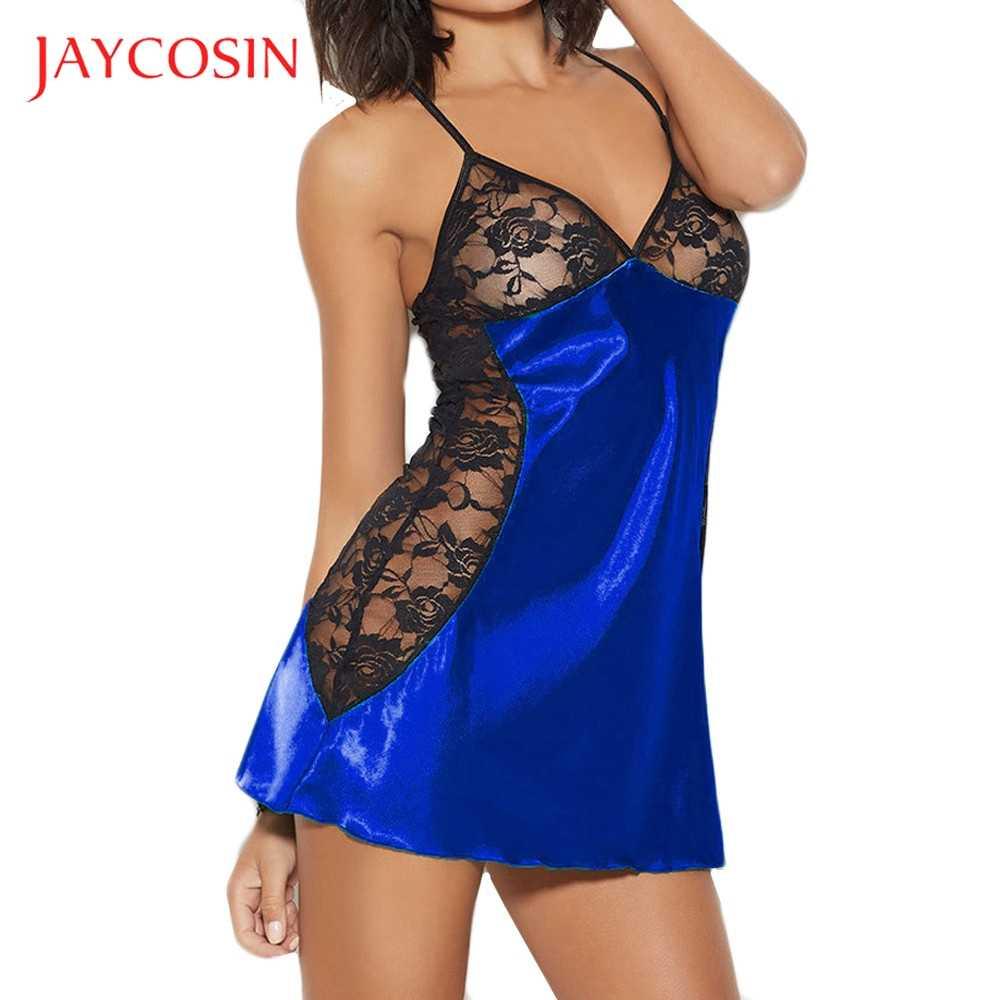 JAYCOSIN  Lace  Plus Size Fashion Women  Babydoll Silks Lingerie G-String Set Underwear Wire Free Sexy Seamless Lingerie