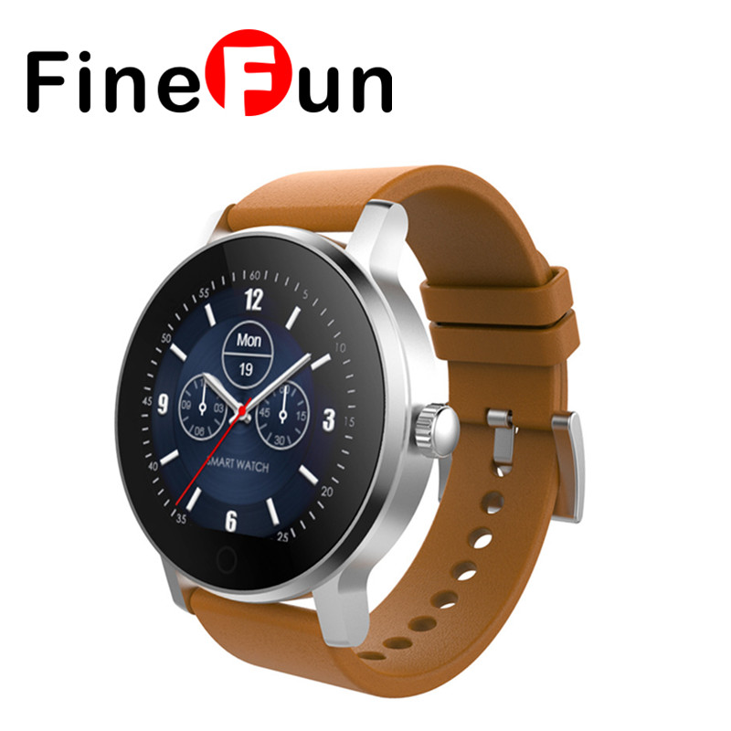FineFun SMA-09 Bluetooth 4.0 Heart Rate Monitor Smart Watch Multiple UI Pedometer Sleep monitor Message reminder PK GT08 K88H 2016 bluetooth smart watch gt08 for