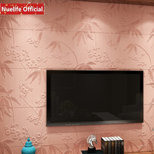 Chinese style bamboo leaf pattern 3d wall stickers living room bedroom kids TV background anti-collision PE soft wallpaper
