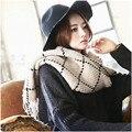 Отличный новый зимняя мода теплый платок бахромой шарфы теплый пунктирная линия текстура дикий 190*70 см Бесплатная Доставка