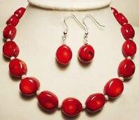 Мода ювелирных изделий белый Akoya жемчуг и красный коралл ожерелье серьги > * 18 К позолоченные часы оптовая продажа кварцевые камень CZ кристал...