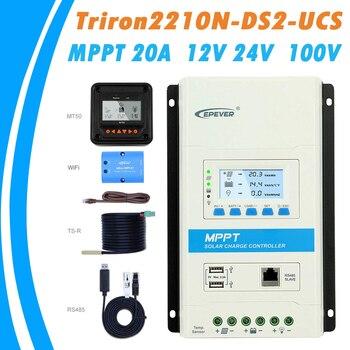 EPEVER TRIRON MPPT 30A 20A 10A controlador de carga Solar 12 V 24 V Auto  negro-LCD luz Solar Modular