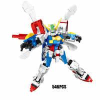 Superrobot war mech luchador móvil G Gundam Dios bloque de construcción Domon Kash figuras juguetes de bloques de modelismo colección